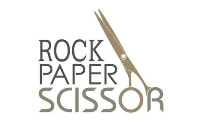 Rock Paper Scissor Hair Bar